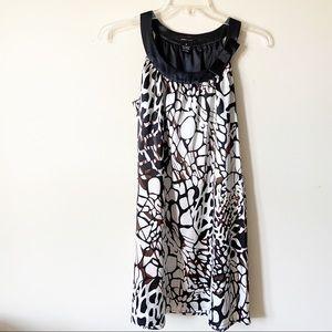 BCBGMAXAZARIA A-Line Black & Brown Dress, Medium
